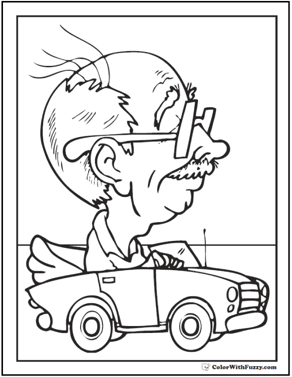 590x762 Grandpa Father's Day Coloring Pages