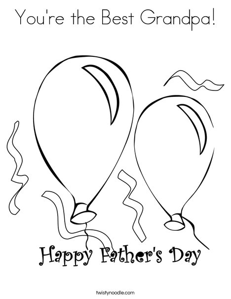 468x605 You're The Best Grandpa Coloring Page