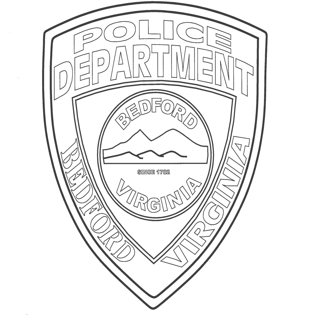 1024x1024 Impressive Police Badge Coloring Page Free Printable Template