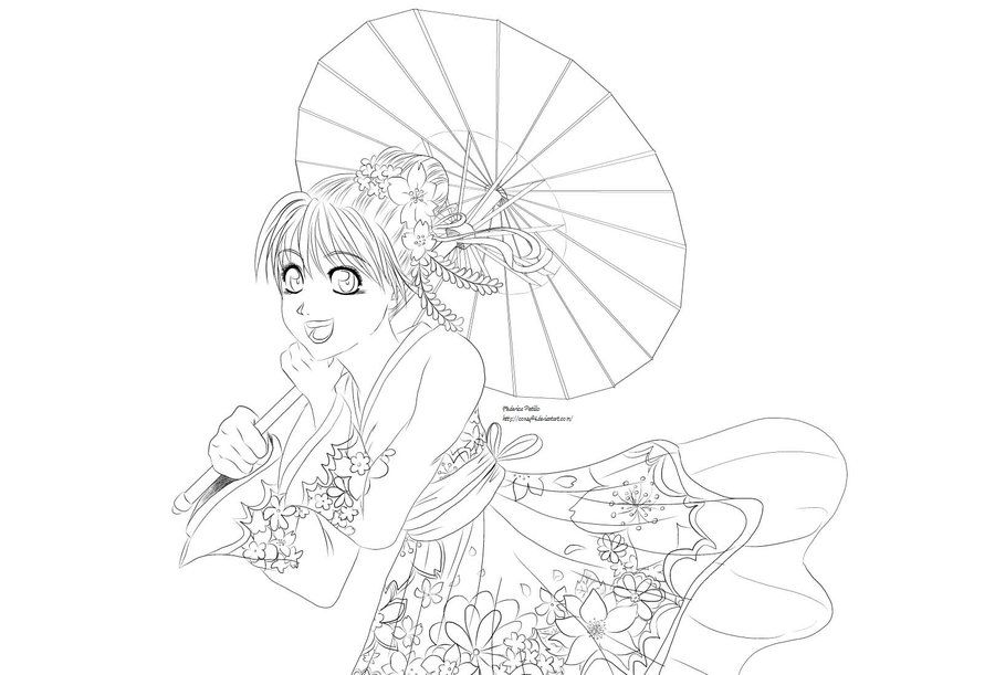 900x611 The Lineart Of My Work Colored