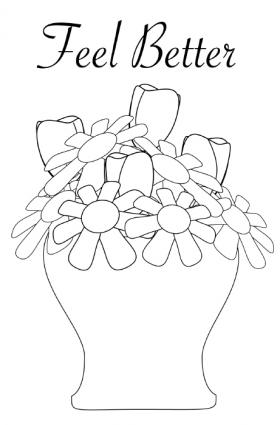 280x425 Feel Better Coloring Pages Printable Get Well Cards For Kids
