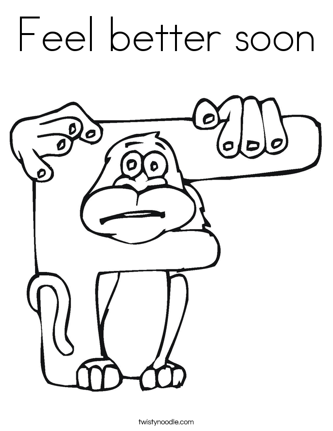 685x886 Feel Better Soon Coloring Page