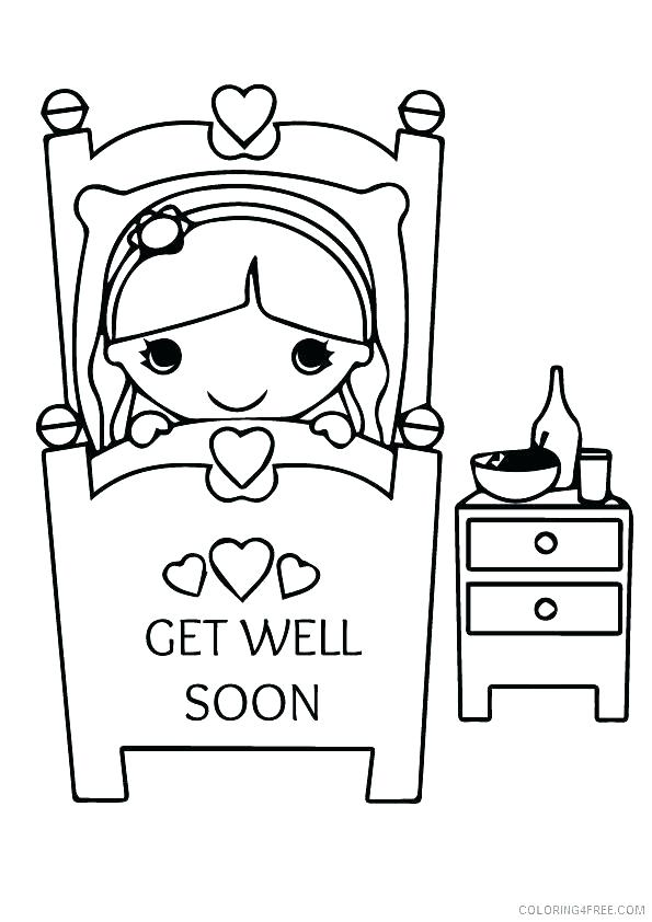 595x842 Get Well Soon Coloring Get Well Soon Coloring Pages