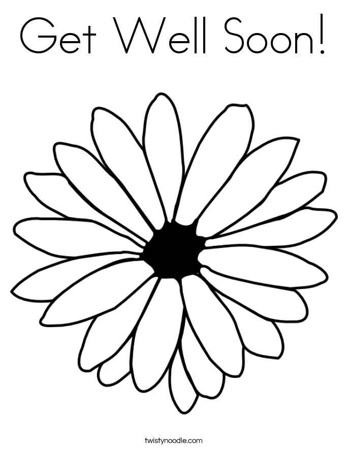 685x886 Get Well Soon Coloring Page