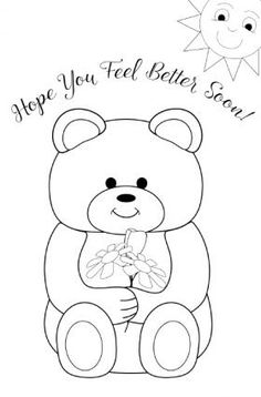 236x358 Top Free Printable Get Well Soon Coloring Pages Online Bears