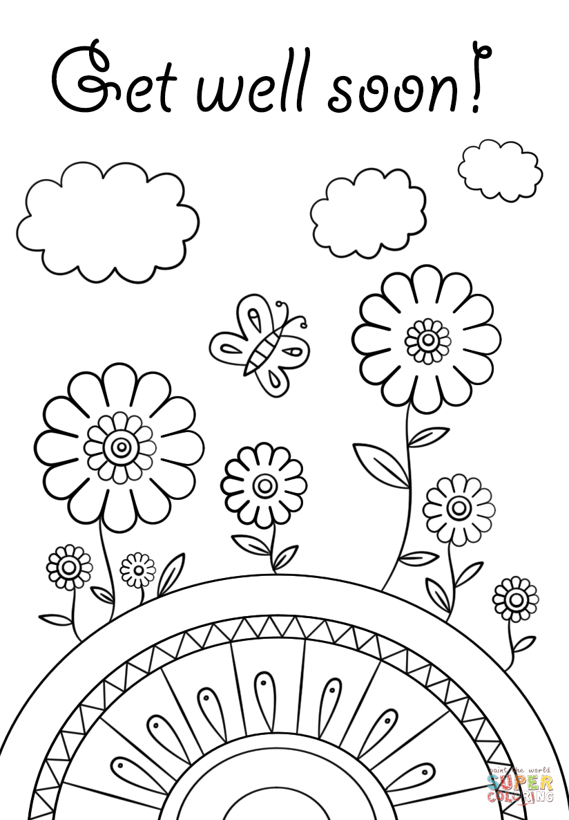824x1186 Feel Better Coloring Pages Shining Ideas Get Well Printable Vitlt
