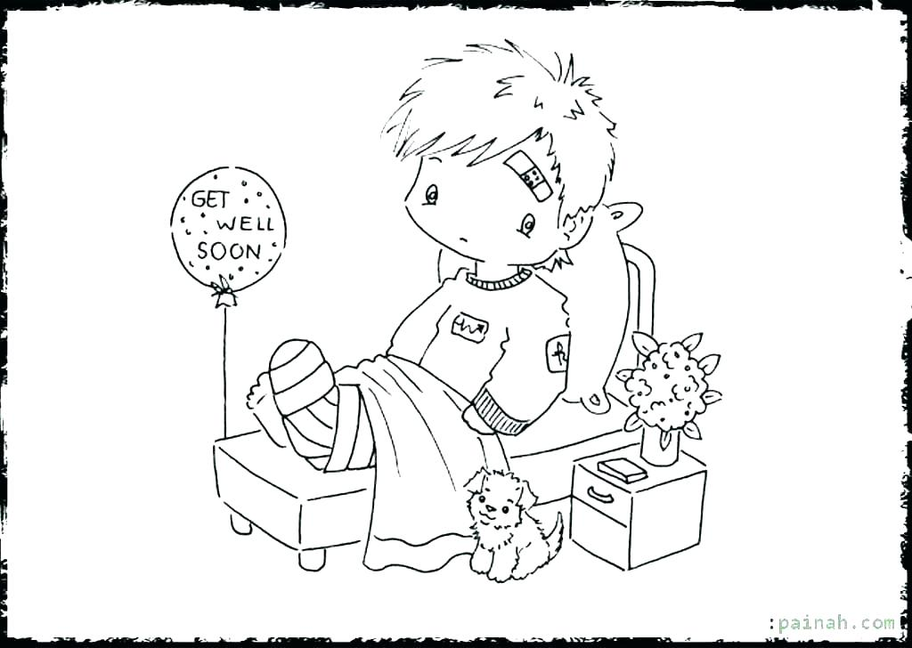 1024x728 Get Well Printable Coloring Pages Deepart