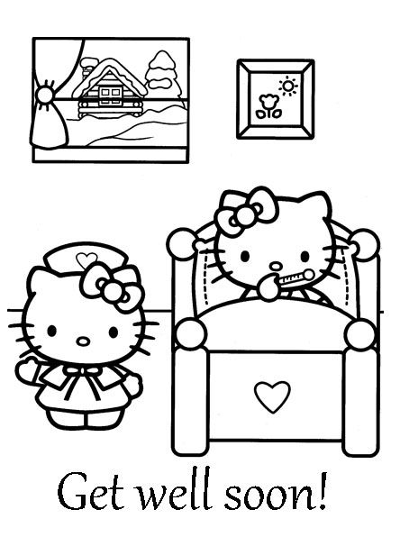 444x596 This Site Has Hundreds Of Hello Kitty Coloring Pages, Paper Crafts