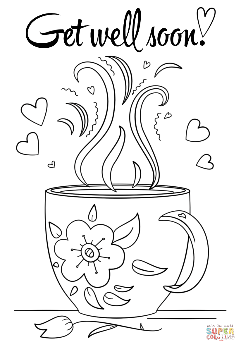 824x1186 Get Well Soon Coloring Page Free Printable Pages Best