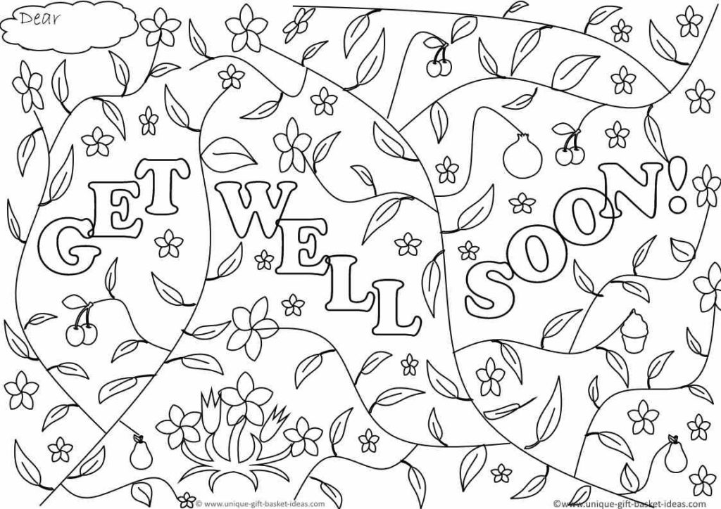 1024x724 Get Well Soon Coloring Pages Get Bubbles