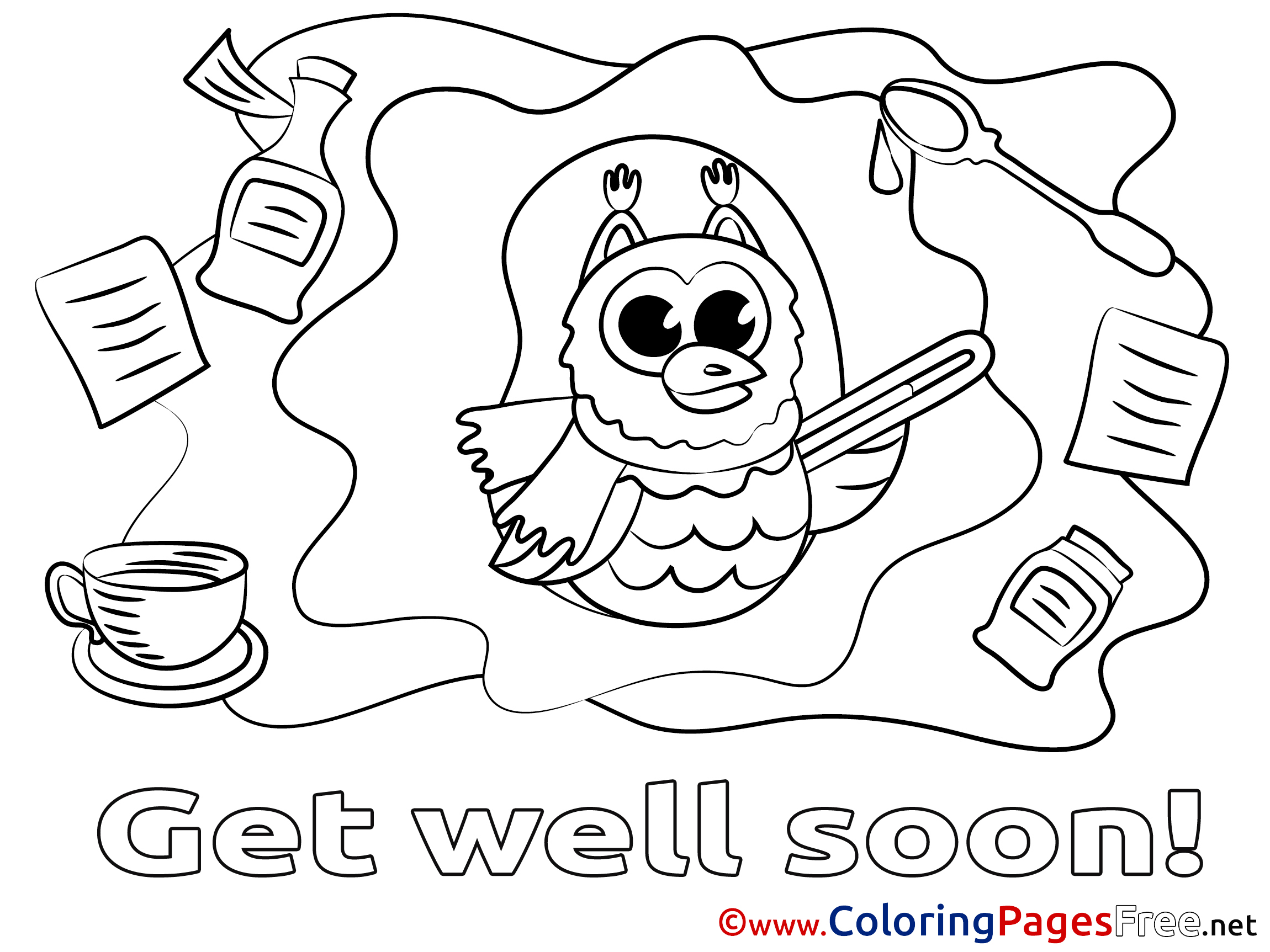 2300x1725 Elegant Get Well Soon Coloring Pages With Additional Coloring