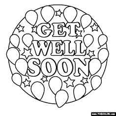 236x236 Top Free Printable Get Well Soon Coloring Pages Online