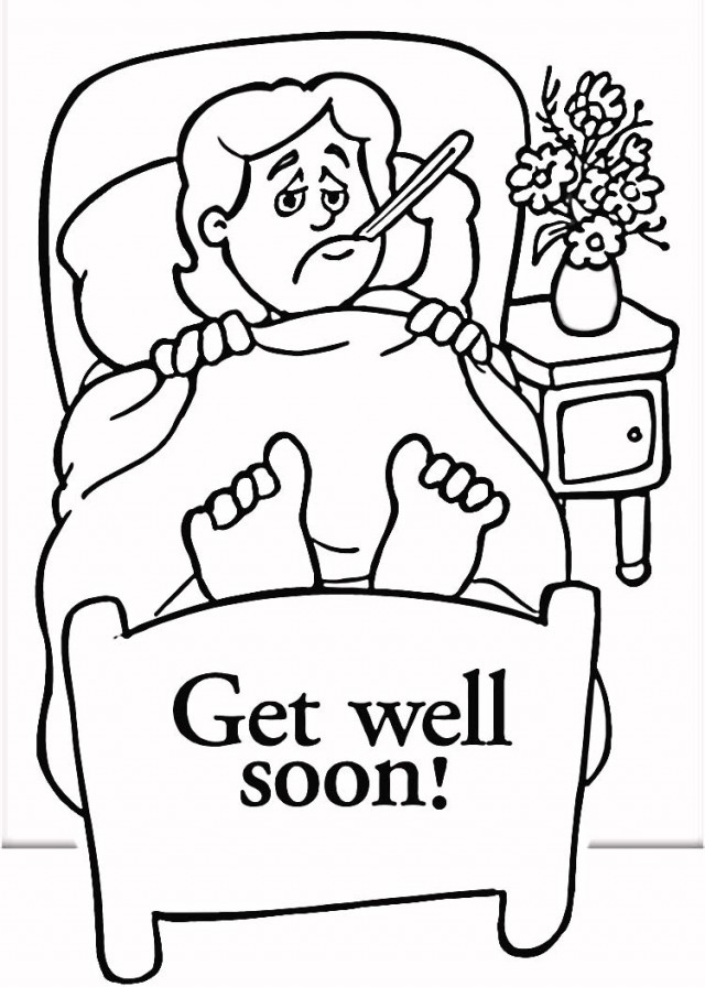 640x896 Coloring Pages Get Well Soon
