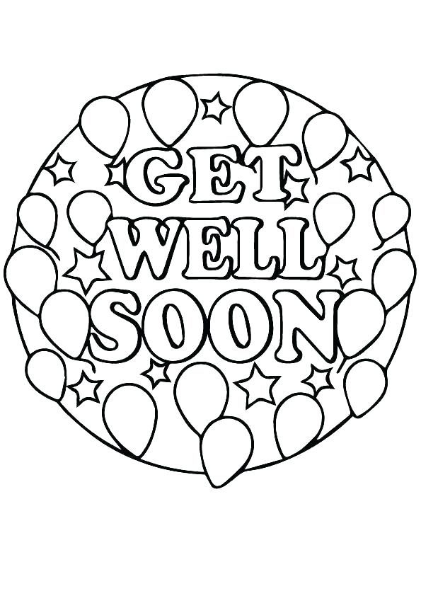 595x842 Feel Better Coloring Pages Colouring Page Disney Get Well Soon