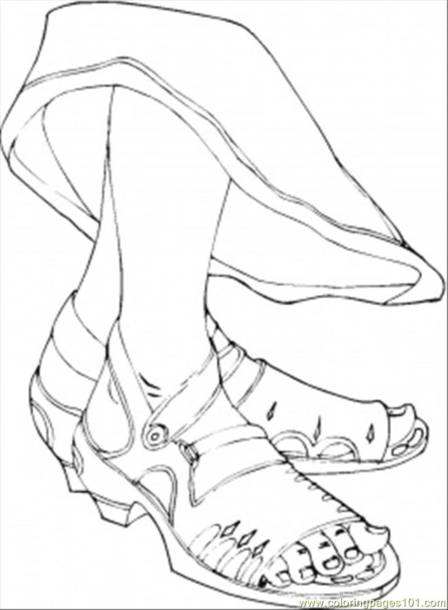 650x885 Girls Feet Coloring Page