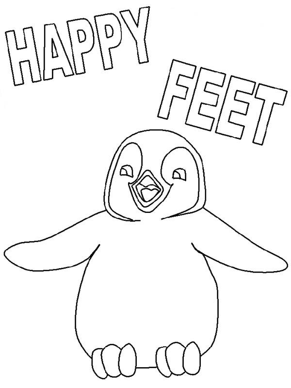 600x800 Happy Feet Coloring Pages