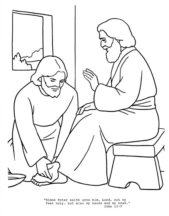 576x734 Jesus Washes Disciples Feet Paper Crafts Copic Printable
