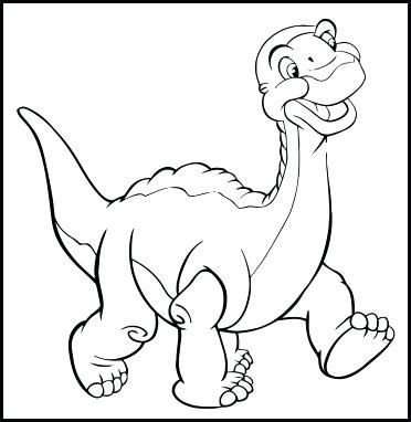 372x382 Marvelous Feet Coloring Pages The Land Before Time Coloring Pages