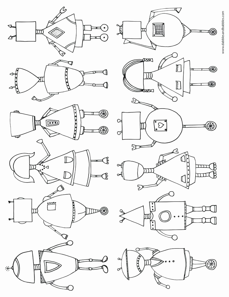 736x952 Robot Coloring Pages Free Inspirational Robot Coloring Page Felix