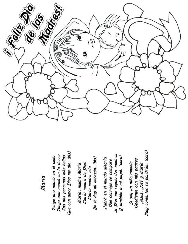 Feliz Dia De Las Madres Coloring Pages