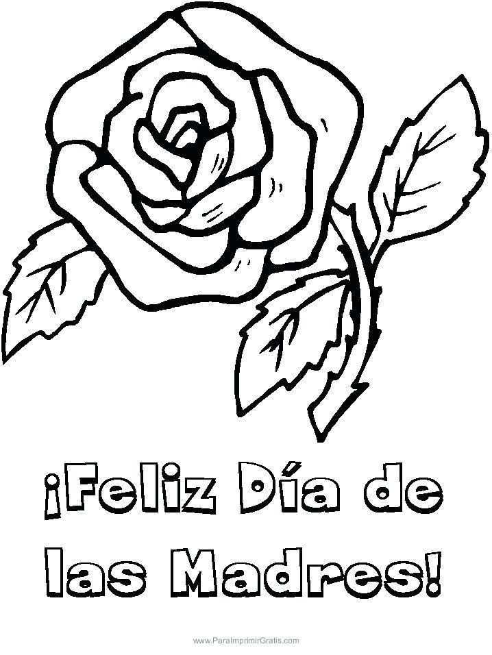 718x956 Feliz Dia De Las Madres Coloring Pages Para La Para E Online