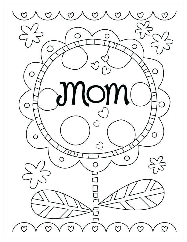 612x792 Free Printable Mother's Day Coloring Pages Free Printable And Crafts
