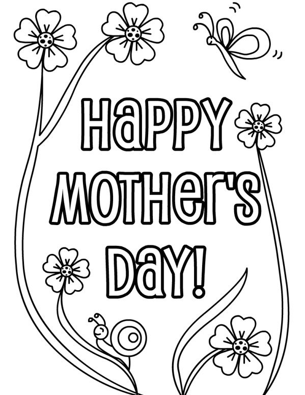 599x776 Happy Mothers Day Coloring Pages Free