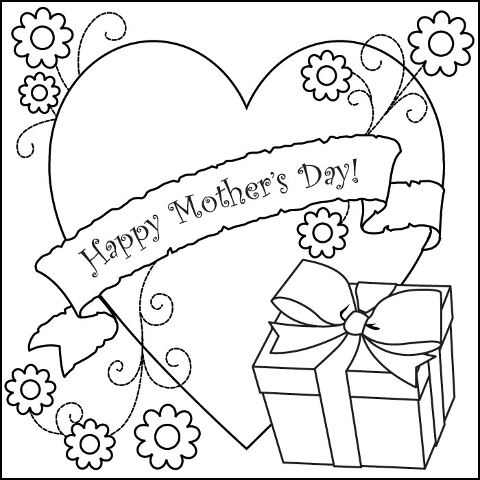 700x700 Mother's Day Coloring Pages