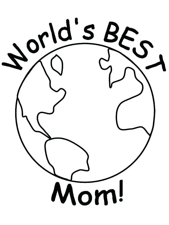 570x760 Mothers Day Coloring Pages For Preschool Mothers Day Coloring