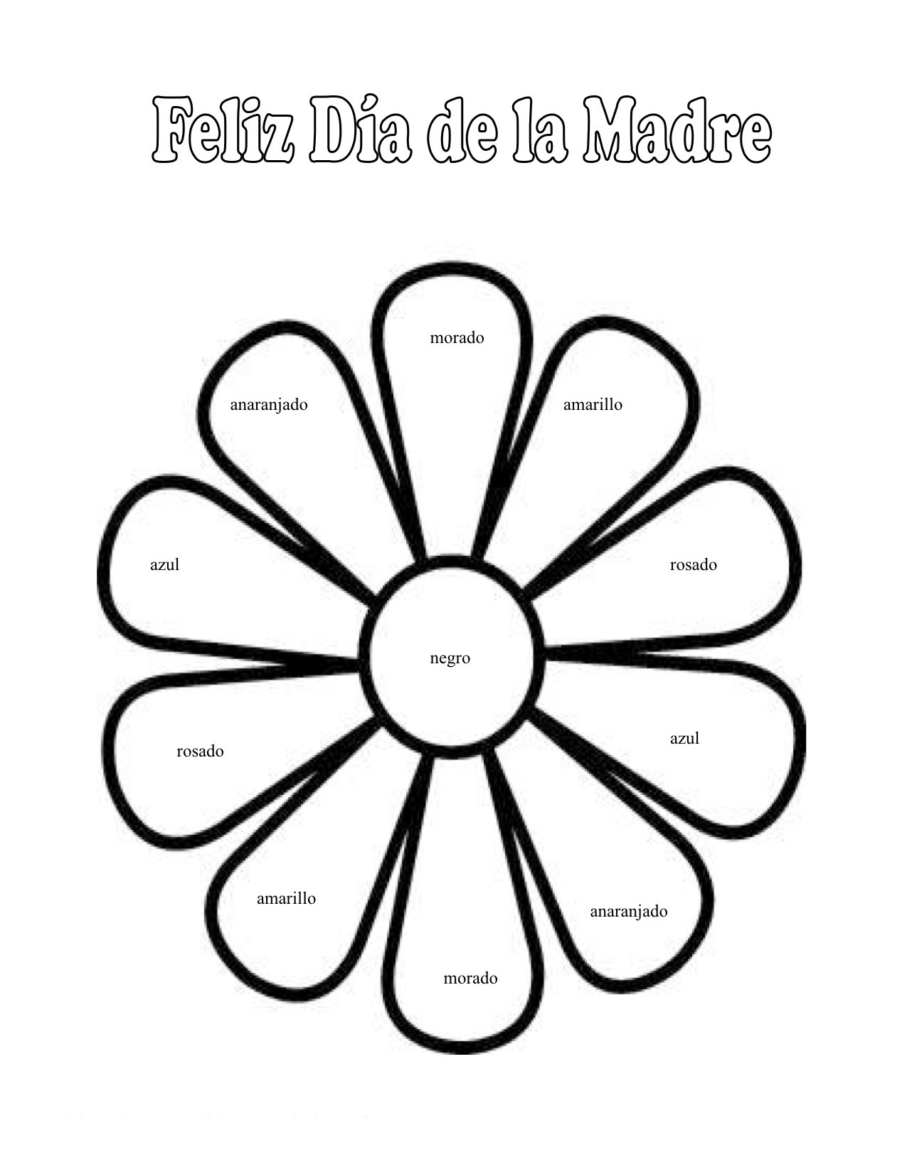 1275x1651 Mothers Day Coloring Pages In Spanish
