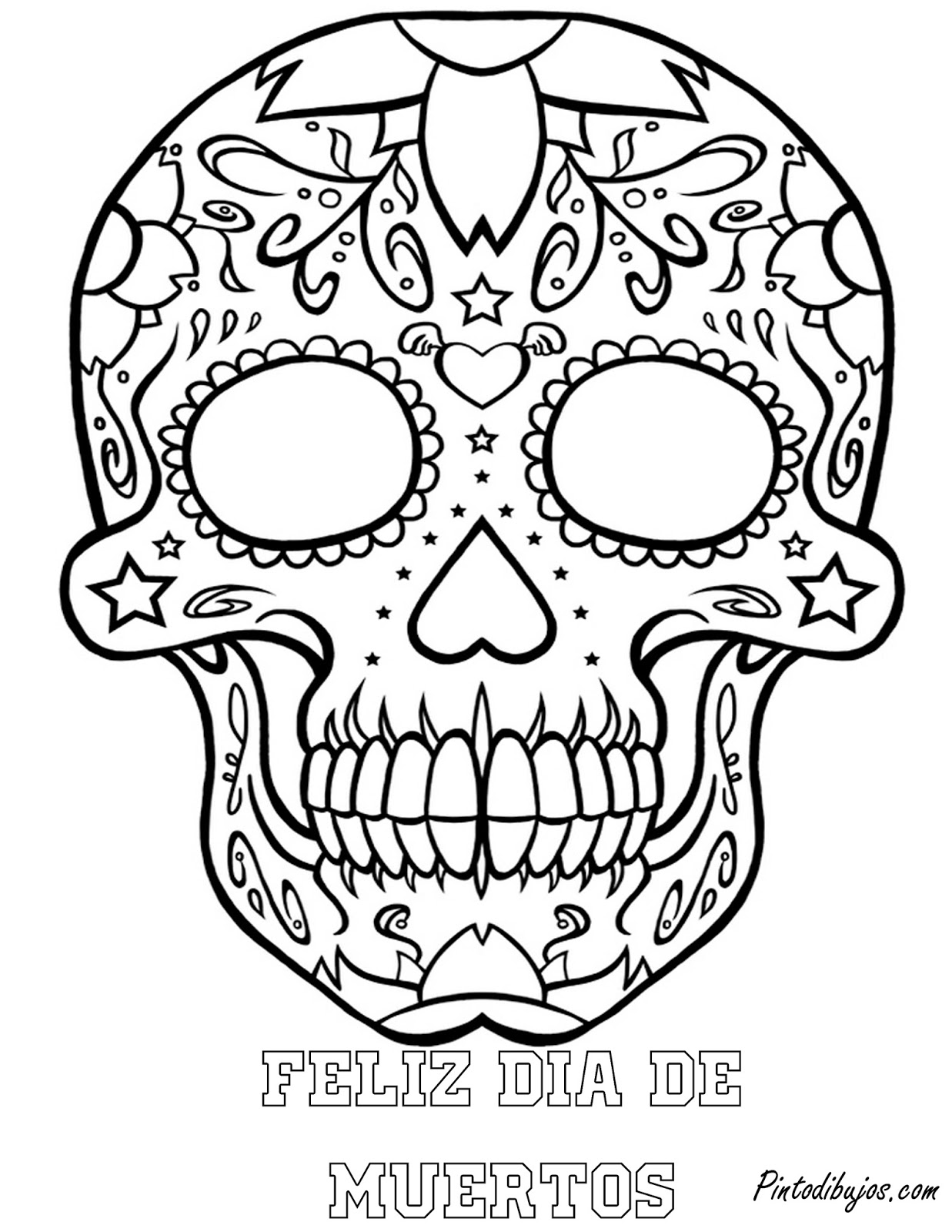 1237x1600 Skull Mandala Coloring Pages Skull Day Of The Dead Coloring