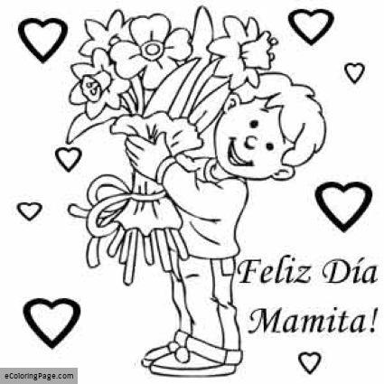Feliz Dia De Las Madres Coloring Pages At Getdrawingscom Free For