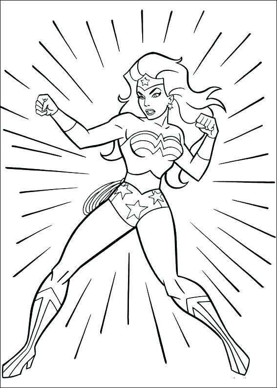 567x794 Female Coloring Pages Wonder Woman Coloring Page Printable Female