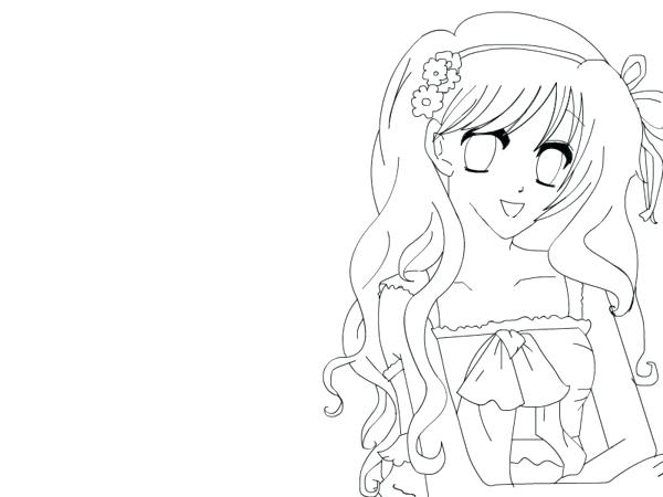 600x450 Manga Girl Coloring Pages Cute Anime Girl Coloring Pages Manga