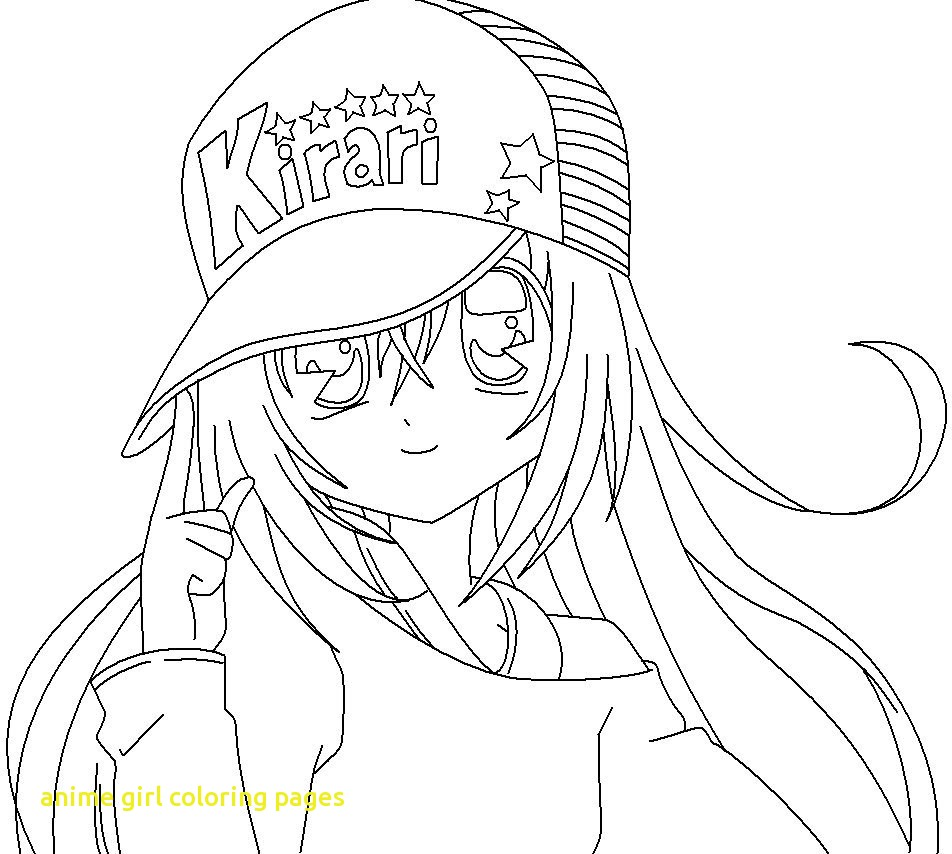952x854 Anime Girl Coloring Pages With Wearing Intended For Decor Anime