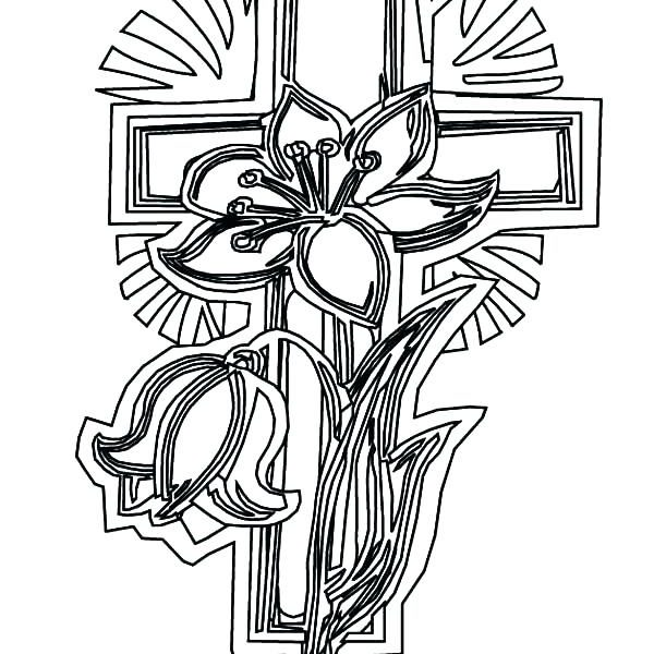 600x600 Cross Coloring Sheets Free Printable Cross Coloring Pages Cross