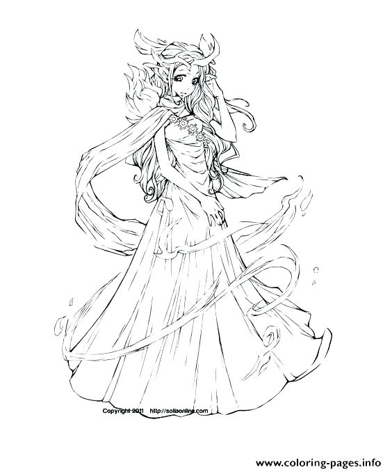 564x678 Coloring Pages Of Elves Elf Coloring Pages Printable Anime
