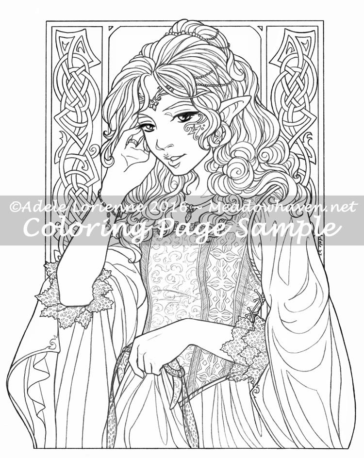 750x944 Elf Princess Coloring Page Meadowhaven
