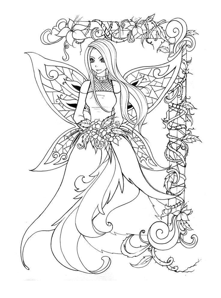 736x992 Best Fantasy Adult Coloring Pages Images