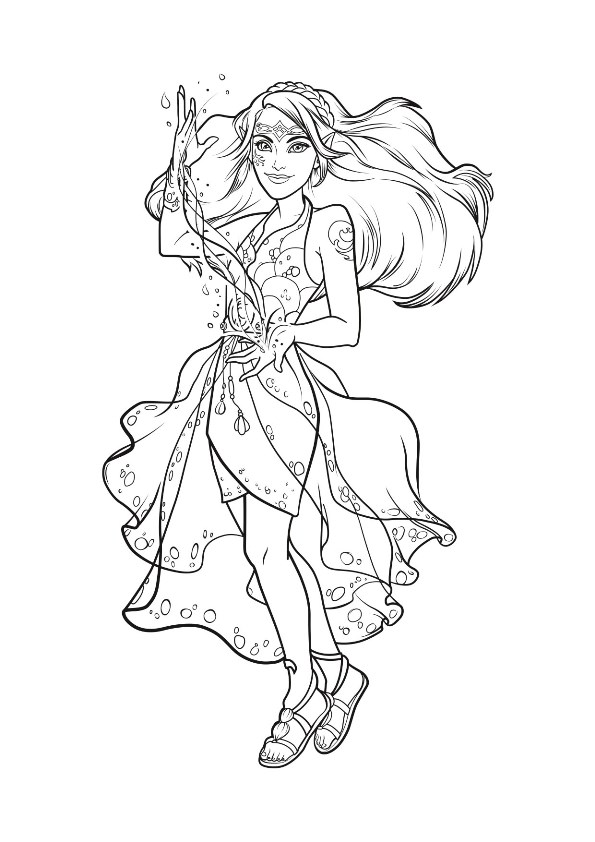 595x842 Kids N Coloring Pages Of Lego Elves