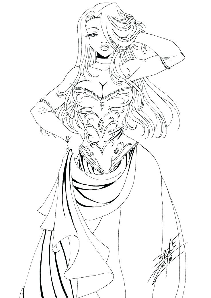 736x1036 Female Coloring Pages