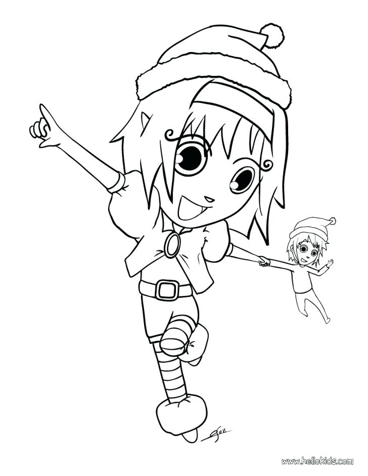 728x941 Female Elf Coloring Pages