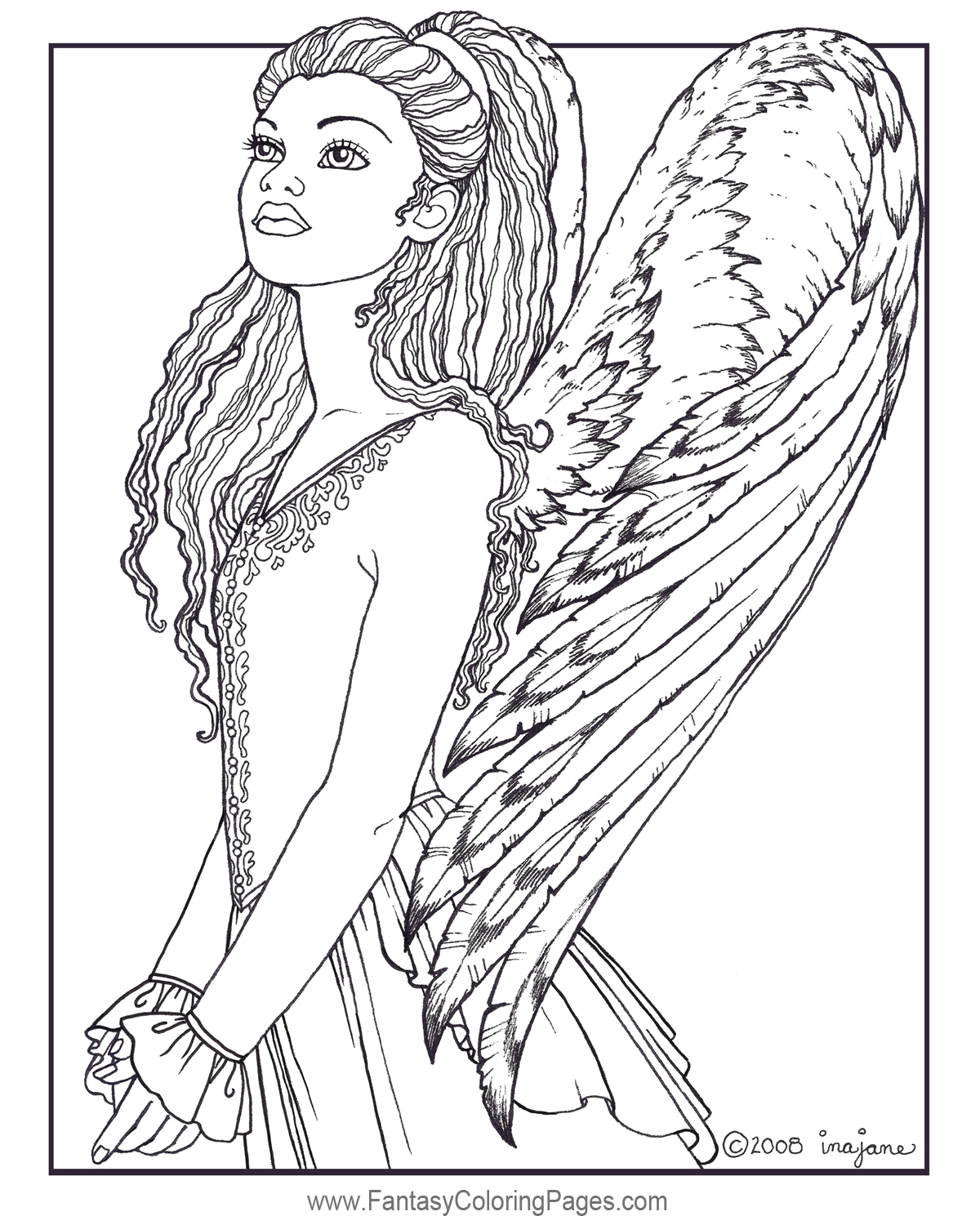 1200x1500 Angels Free Sample Fantasy Coloring Pages
