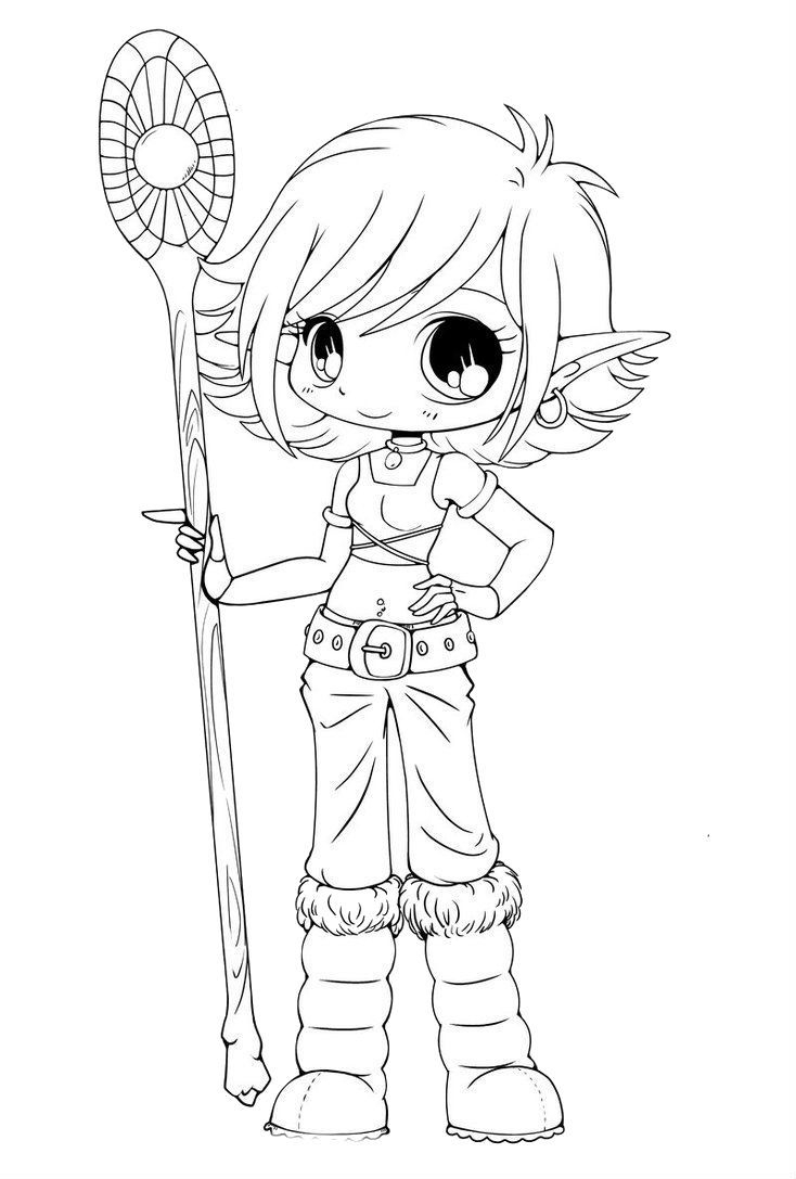 734x1087 Awesome Cartoon Elf Coloring Pages Design Printable Coloring Sheet
