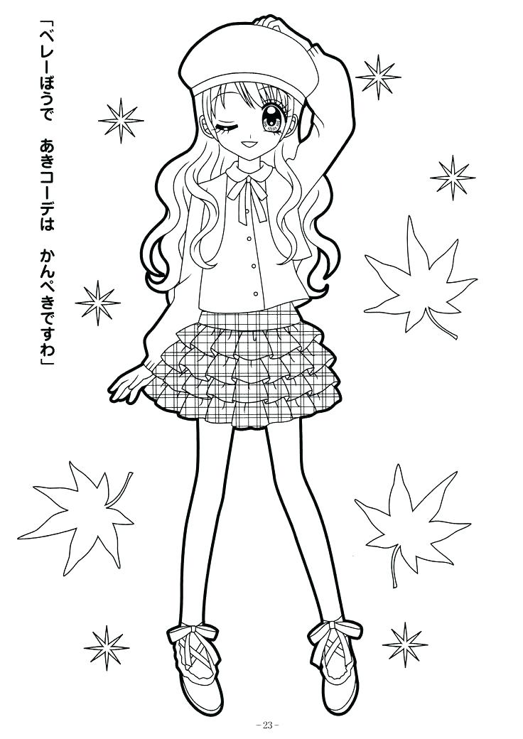736x1040 Cute Girl Coloring Pages Cute Girl Coloring Pictures Pages