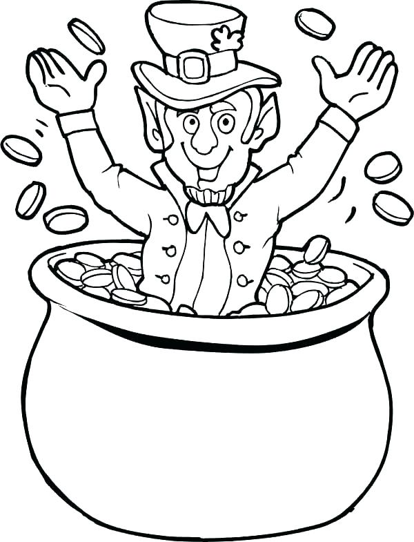 600x785 Cute Girl Leprechaun Coloring Pages Saint St Colouring Printable