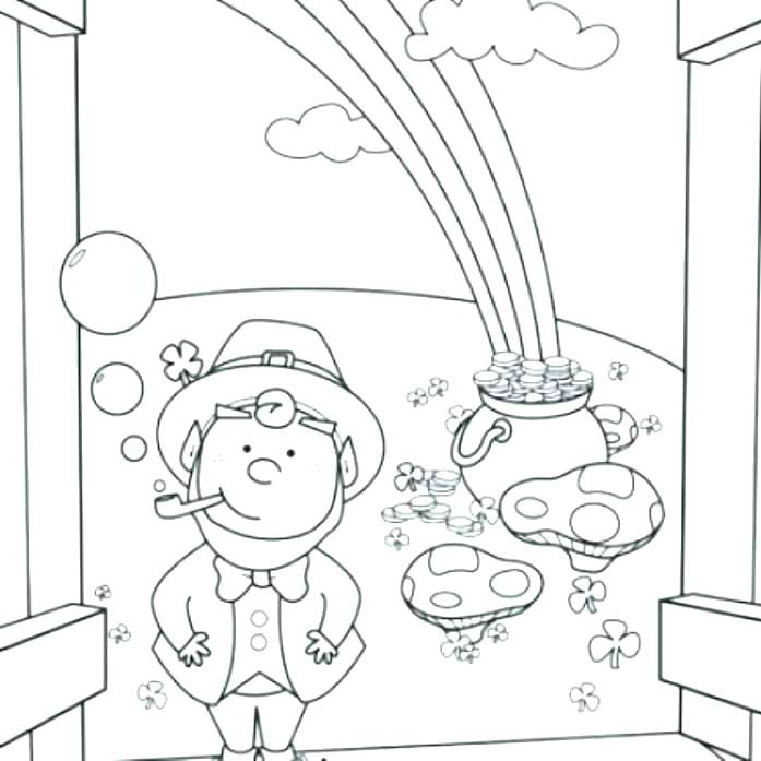697x697 Cute Girl Leprechaun Coloring Pages To Print Little St Page