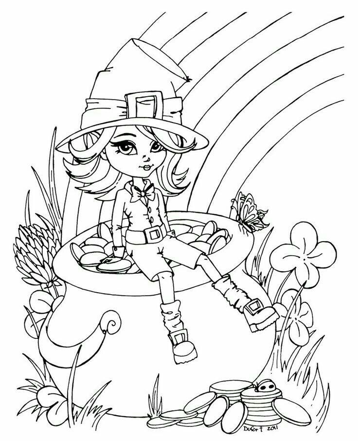 736x907 Leprechaun Girl Coloring Page Arts Crafts And Diy