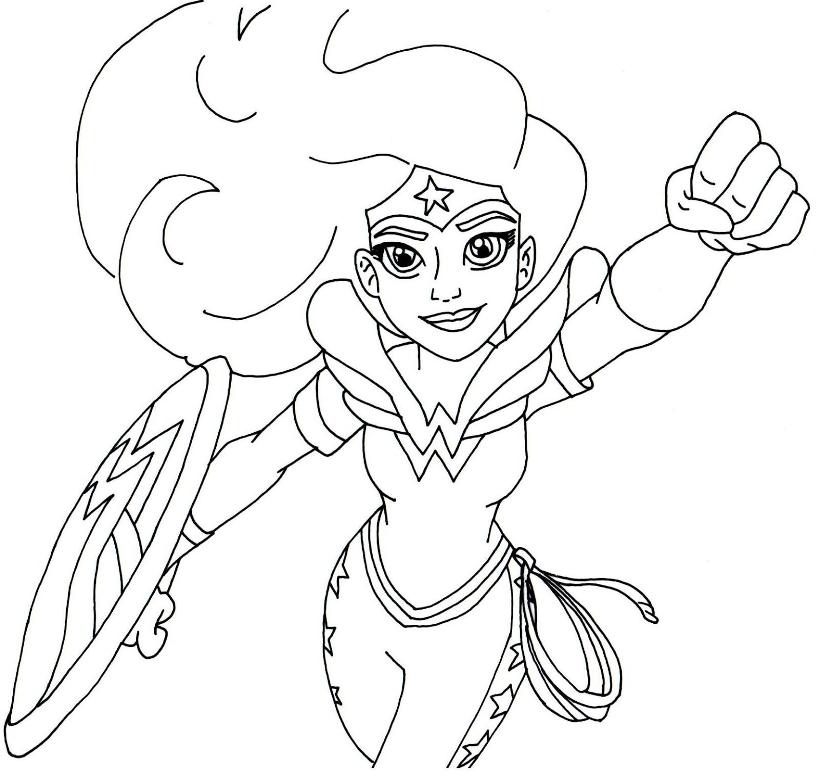 1600x1515 Awesome Wonder Girl Coloring Page Art Free Colouring Pages Free