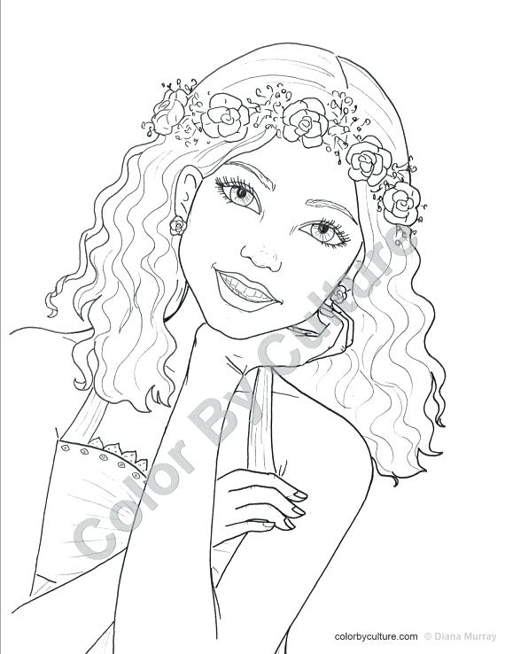 570x738 Female Coloring Pages Teenage Girl Coloring Pages Fashion Coloring